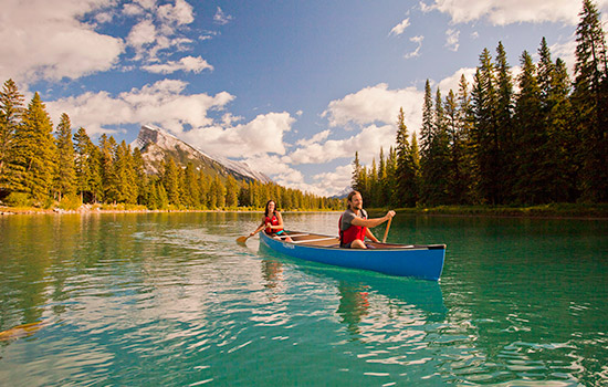 Canoe ride, Banff national Park