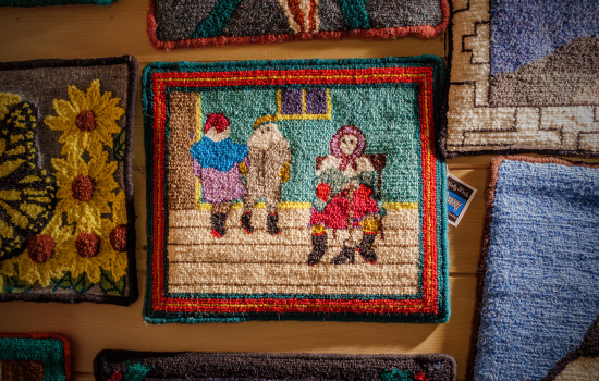 Rug hooking craft in Woody Point, Newfoundland