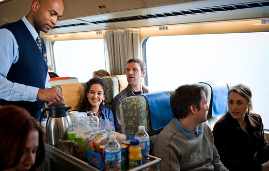 Drinks onboard VIA Rail