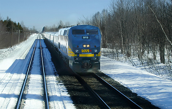 VIA Rail train enroute to Churchill, Manitoba