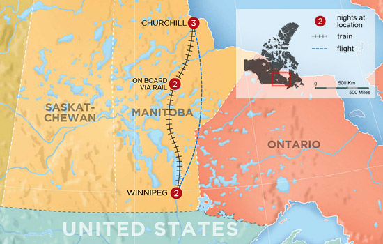 Churchill Alaska Map.Canadian North Arctic Tours For 2019