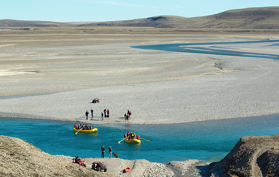 Guided raft tour in the arctic