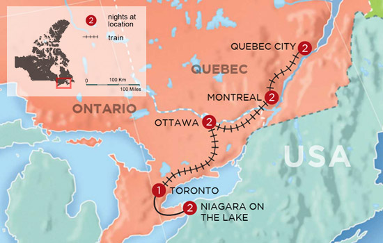 Canadian History and Culture by Rail – Map