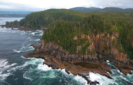 The rugged shores of Haida Gwaii