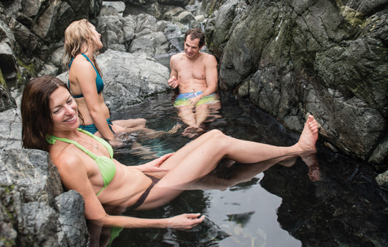 Relax in natural hotsprings in Tofino