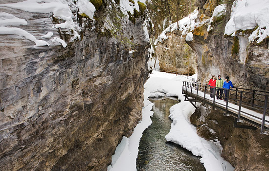 Exploring Johnston Canyon on an ice-walk