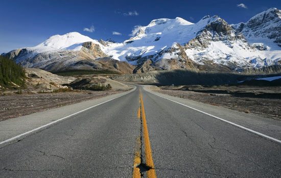 The Icefields Parkway is one of the most scenic mountain roads in the world.
