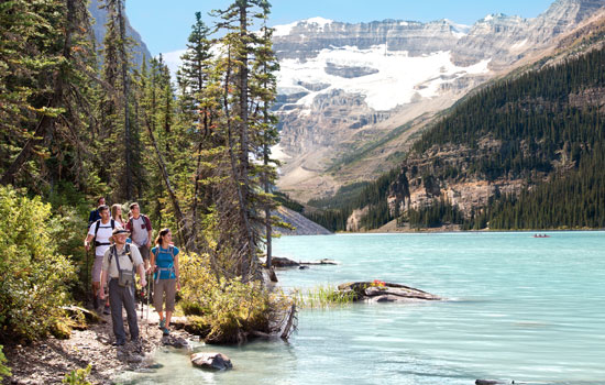 Hiking around Lake Louise with a Mountain Heritage Guide
