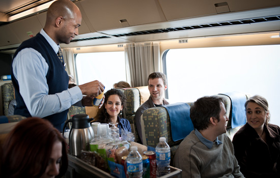 Complimentary service onboard VIA RAil