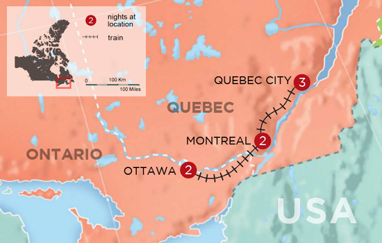 Map Of Canada Quebec Montreal.Quebec Ontario Vacations To Canada For 2019