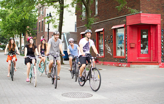 Guided bike tour in Montreal