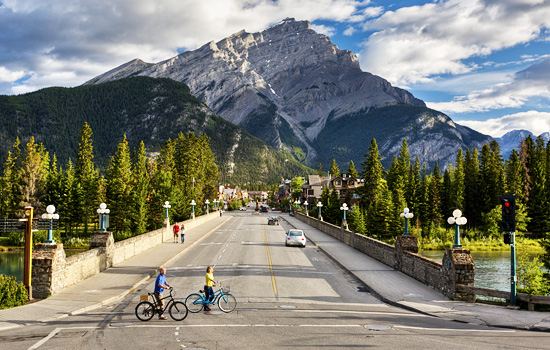Start your adventure in the charming mountain town of Banff.