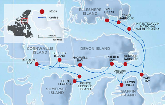 High Arctic Explorer Expedition Cruise – Map