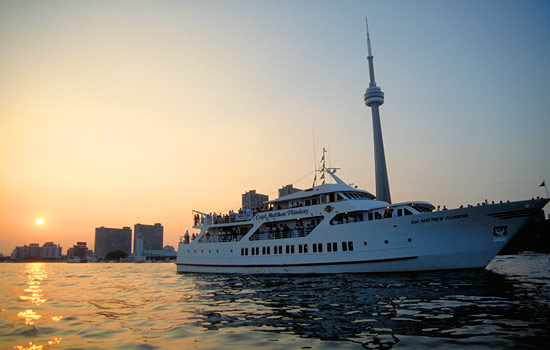 Sunset cruise with view of Toronto's CN tower
