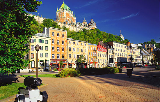 The Chateau Frontenac overlooks historic Quebec city
