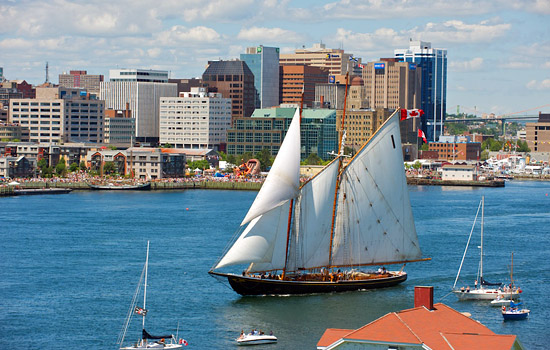 Tall ship in the Canadian Maritimes