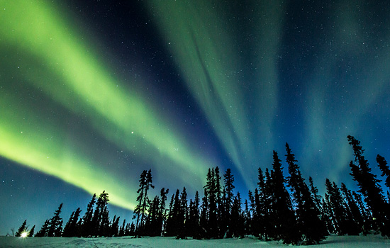 Aurora Borealis lights up the sky